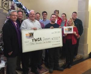 YWCA receiving $3,100 cheque