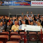 100 Men Oshawa with big cheque 2