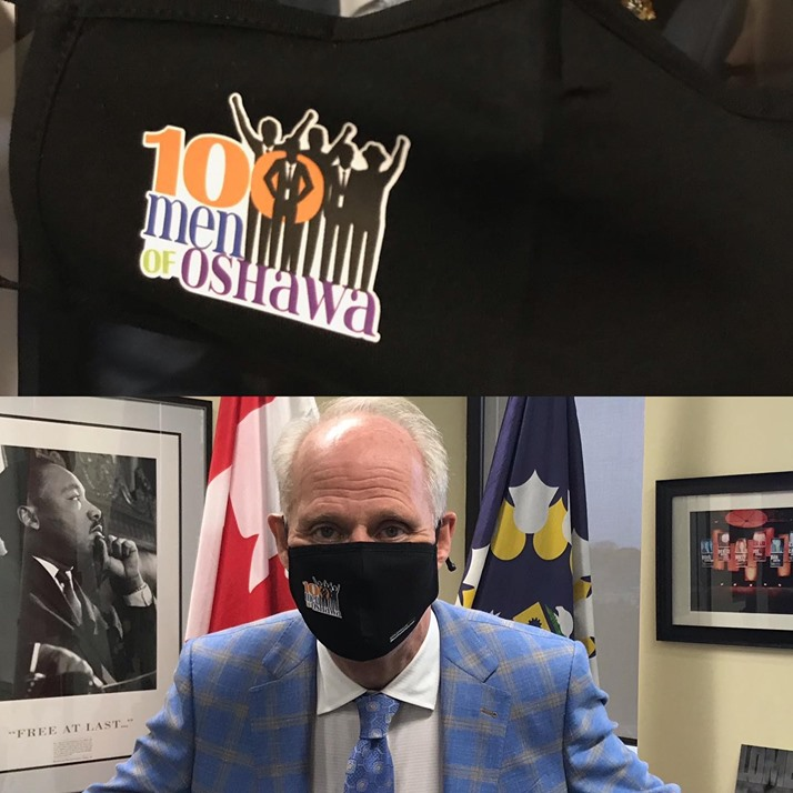 Mask and Mayor Dan Carter